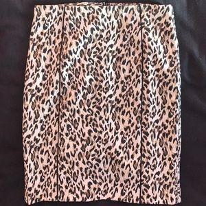 WHBM Leopard Pencil Skirt - NWT
